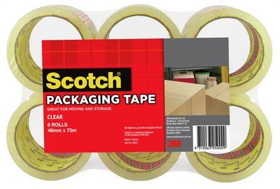 TAPE PACKAGING SCOTCH #400 48MMX75M CLEAR Pack of 6