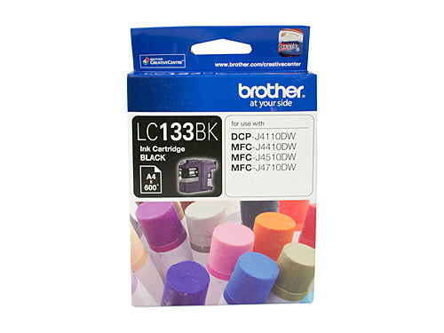 Brother LC133 Black Ink Cartridge - up to 600 pages