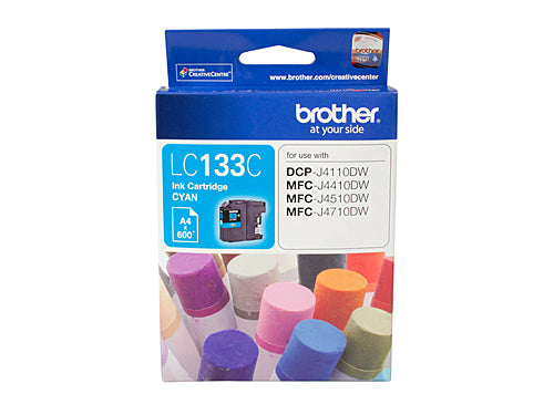 Brother LC133 Cyan Ink Cartridge - up to 600 pages