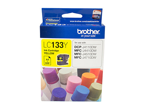 Brother LC133 Yellow Ink Cartridge - up to 600 pages