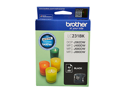 Brother LC231 Black Ink Cartridge - Up to 260 pages