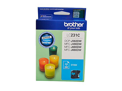 Brother LC231 Cyan Ink Cartridge - Up to 260 pages