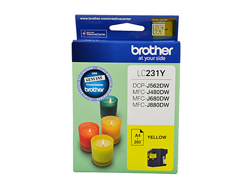 Brother LC231 Yellow Ink Cartridge - Up to 260 pages
