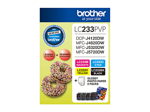 Brother LC233 Photo Value Pack - refer to singles