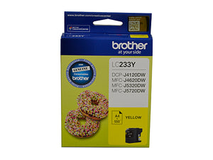 Brother LC233 Yellow Ink Cartridge - up to 550 pages