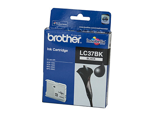 Brother LC37BK Black Ink Cartridge - 350 pages LC-37