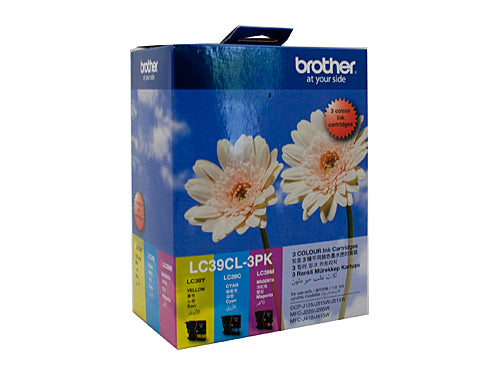 Brother LC39CL3PK Cyan, Magenta & Yellow Colour Pack - 260 pages each