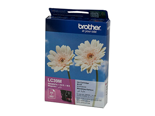 Brother LC39M Magenta Ink Cartridge - 260 pages