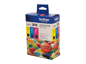 Brother LC40CL3PK Cyan, Magenta & Yellow Colour Pack - 300 pages each