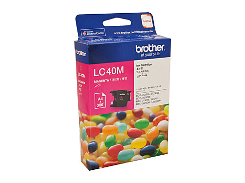 Brother LC40M Magenta Ink Cartridge - 300 pages