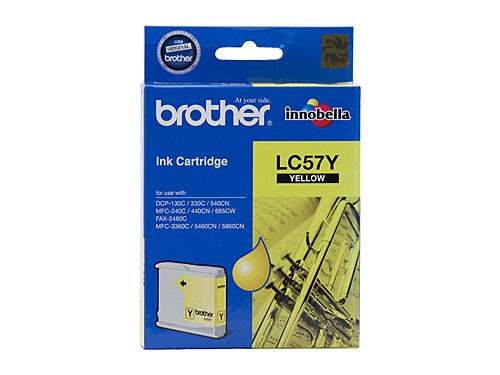Brother LC57Y Yellow Ink Cartridge - up to 400 pages