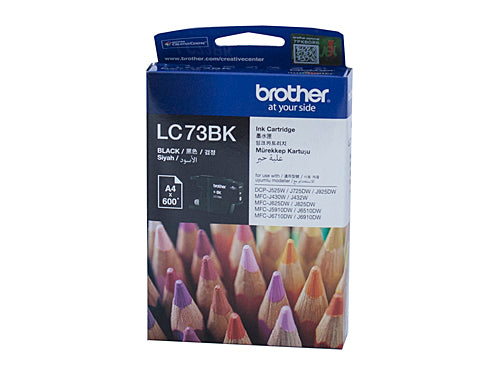 Brother LC73BK Black Ink Cartridge - 600 pages
