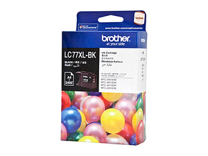 Brother LC77XL Black Ink Cartridge - 2,400 pages