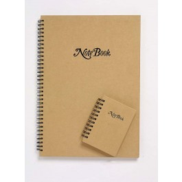 Cumberland Kraft Cover Notebook A4 Spiral Bound 80 Leaf Ruled