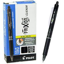 PEN PILOT FRIXION BALL RETRACTABLE BLACK Box of 12