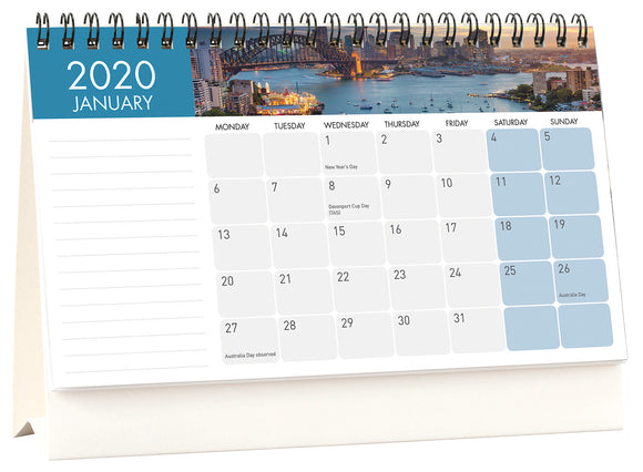 CALENDAR 2020 MILFORD 205X145MM FLIP OVER DESK CALENDAR ASST