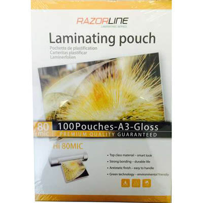 RAZORLINE A4 125 MICRON LAMINATING POUCH Pack of 100