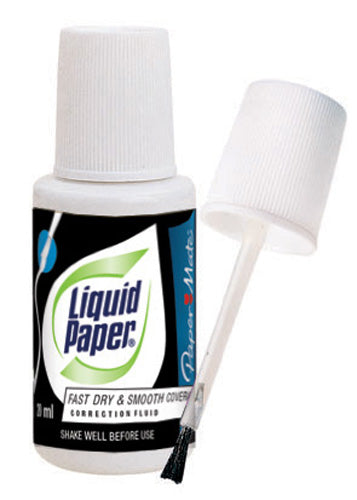 CORRECTION FLUID LIQUID PAPER BOND WHITE PACK OF 12