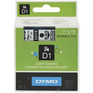 Dymo D1 Label Cassette 24mmx7m - Black on Clear