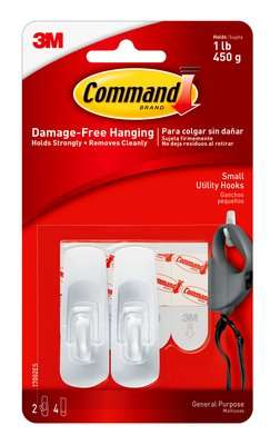 HOOKS COMMAND SELF ADHESIVE SMALL 17002