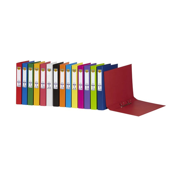 BINDER MARBIG A4 PE 2 D-RING 25MM CORAL