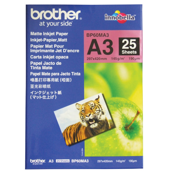 Brother BP60MA3 Matte Paper - 25 Sheets