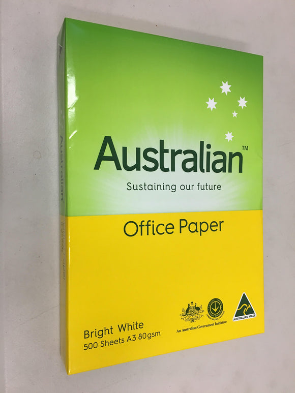 PAPER Aussie A3 80GSM WHITE PK500. See variants for Qty Pricing