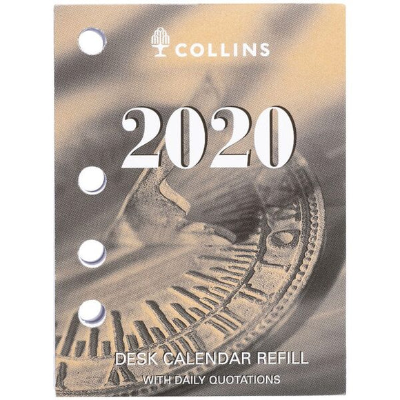 Collins Desk Calendar Refill SIDE PUNCH