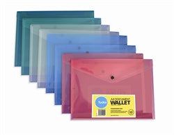 Doc Wallet A4 Cumberland C/w Button Assorted DISCONTINUED & REDUCED