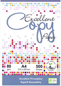 COPY PAPER EXCELLENT A4 80GSM  PK500 See Variants for qty pricing