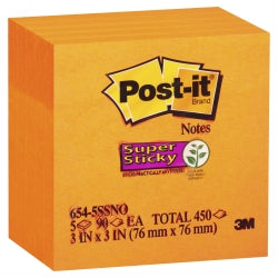NOTES SUPER STICKY POST-IT 76X76MM 654 See Varients for colours.