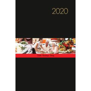 Milford 2020 Table Booking Diary A4 2 Page per Day Black