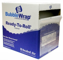 BUBBLE WRAP 350MMX50M ROLL PERFERATED 750MM IN DISPENSER BOX