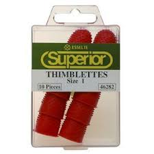 THIMBLETTES SUPERIOR SIZE 1 RED  BX10