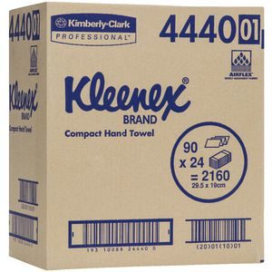 KLEENEX TOWEL COMPACT WHITE 90S Carton of 24 packs