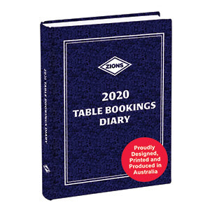 Zions Table Bookings Diary