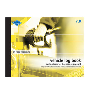 VEHICLE LOG BOOK WITH ODOMETER & EXPENSES RECORD ZIONS VLB LARGE