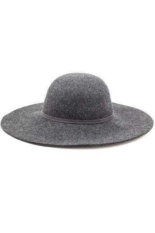 Charcoal Wide Brim Hat