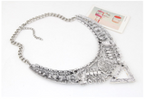Silver Boho Statement Necklace
