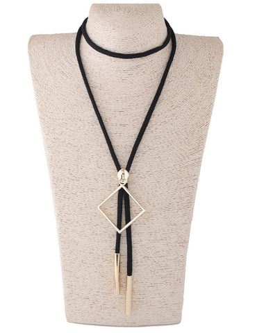Zip Long Necklace