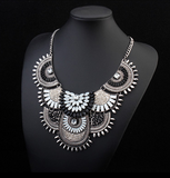 Monochrome Statement Necklace