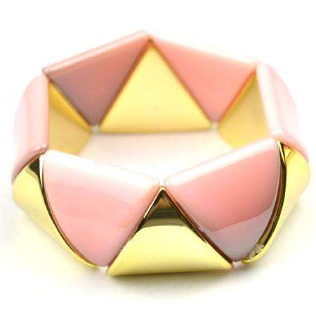 Dirty Pink & Gold Stretch Bangle