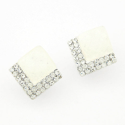 White Diamante Studs