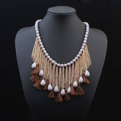 Nude Tassel Necklace