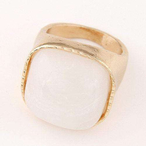 Statement White Ring