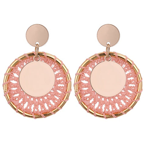 Blush Hoop Earrings