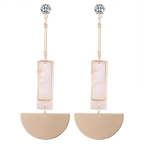 Halfmoon Shell Drop Earrings