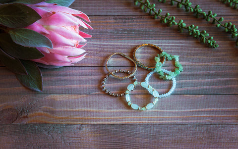 Mint Stretchy Bracelet Pack (Set of 6)