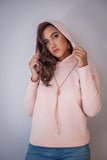 Blush Hooded Raglan Top