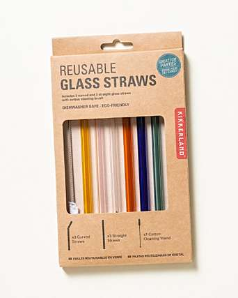 Colourful Reusable Glass Straws - Maktus